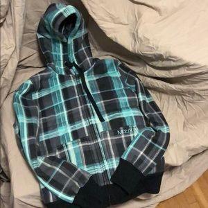 Matix zip up lines hoodie